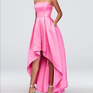 Dresses & Skirts - Hot pink high-low prom dress